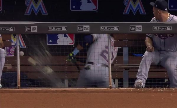 WATCH: Carlos Gomez Destroying Gatorade Tubs In Dugout Tantrum