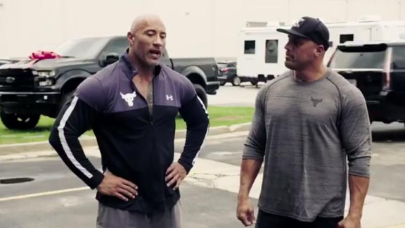 The Rock Surprised His Longtime Stunt Double With A Brand New Truck (VIDEO)