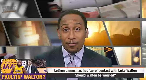 Stephen A. Smith Says Lakers Will Fire Luke Walton & Hire Phil Jackson (VIDEO)
