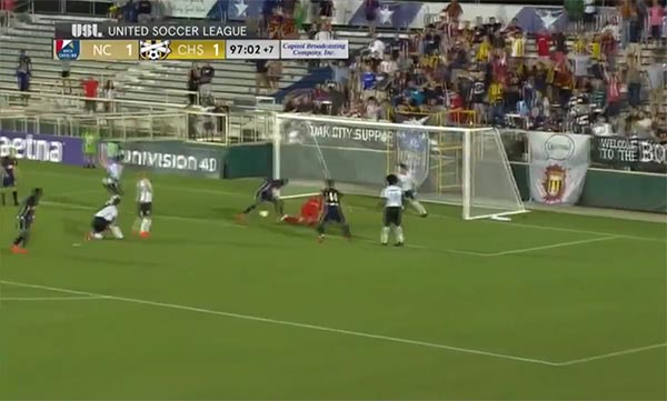 WATCH: North Carolina FC Repeatedly Tries To Score In Unbelievable Soccer Highlight