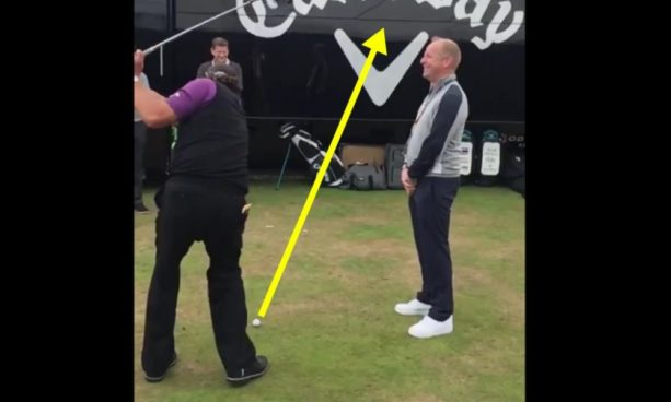 WATCH: Phil Mickelson Hit A Flop Shot Over A Man 2 Yards In Front Of Him