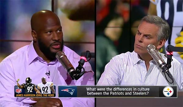 James Harrison On Why Patriots Coaching Is Better Than Steelers Coaching (VIDEO)