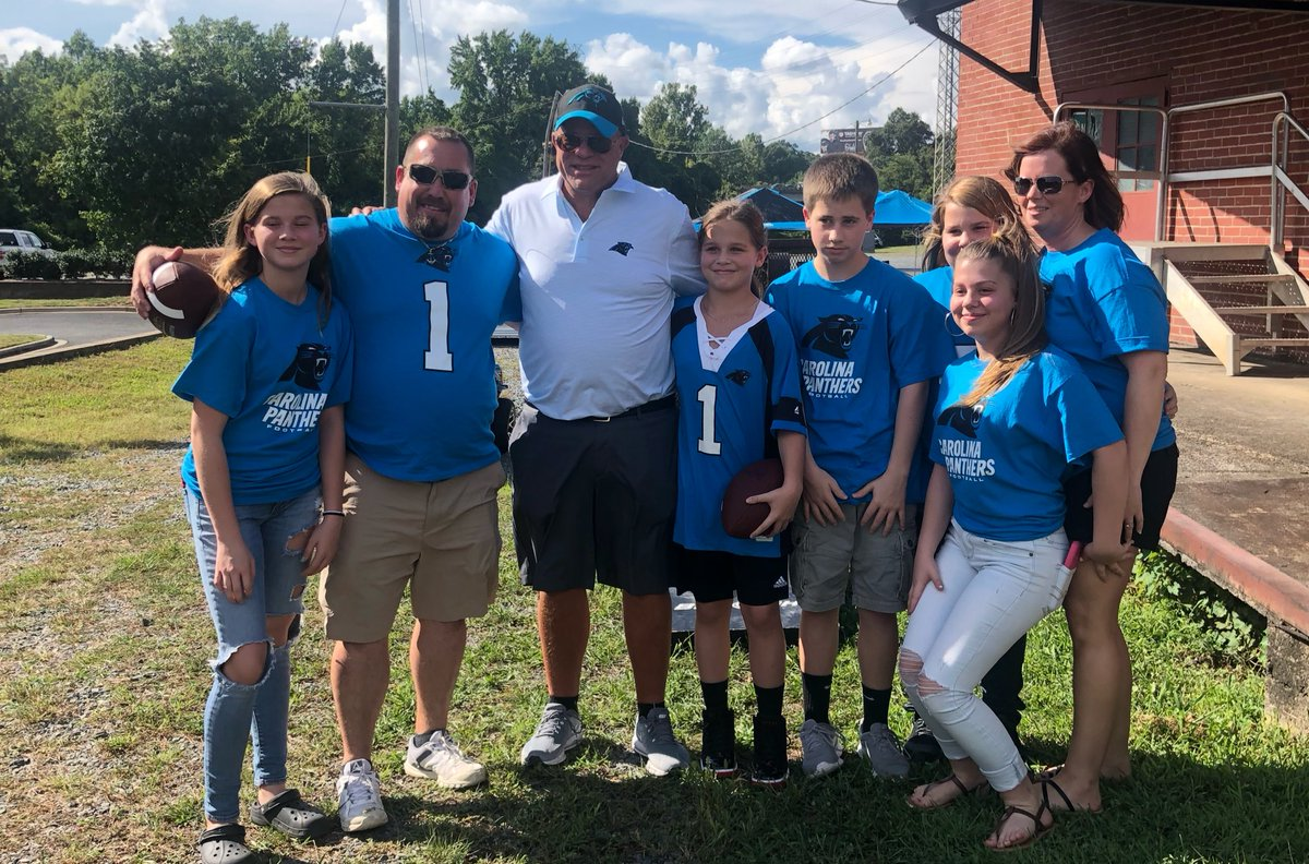 Carolina Panthers New Owner Tailgaiting With Fans Before The Game