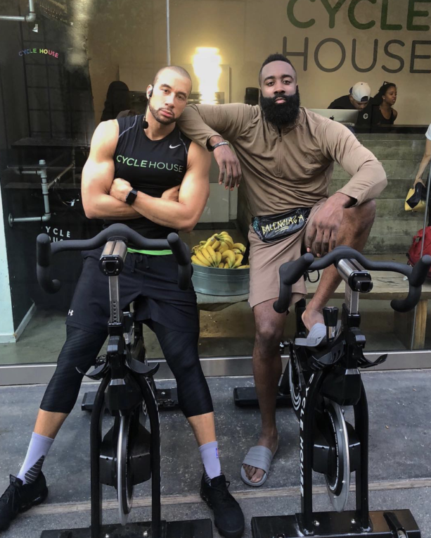 James Harden Hits A Spin Class At Cycle House