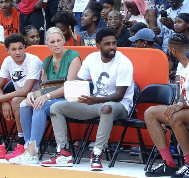 Kyrie Irving Stops By Rucker Park To Checkout Some Basketball