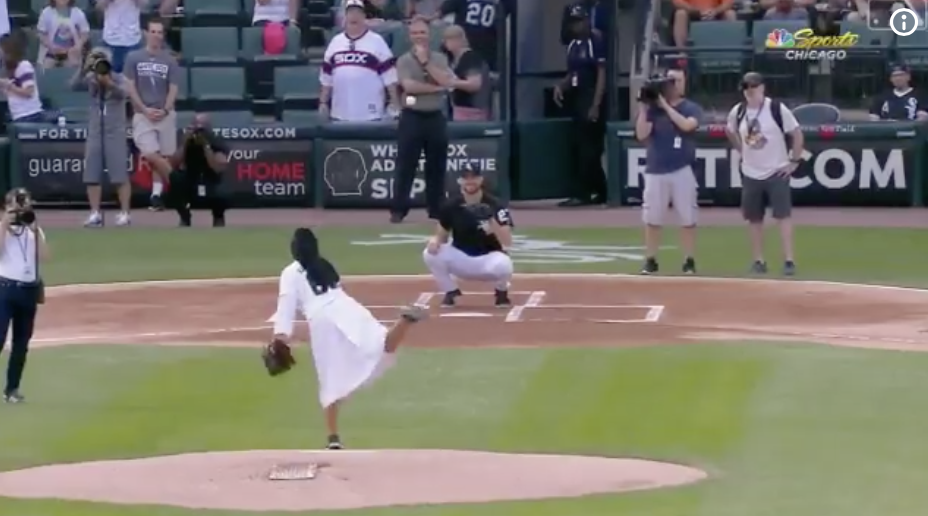 Sister Heat Throws Ourt The First Pitch At White Sox Game