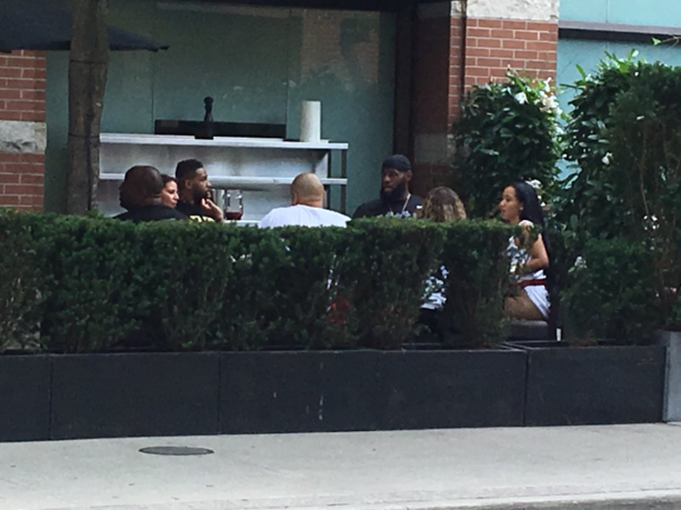 Tristan Thompson Brought 3 Women To Toronto To Have Lunch With LABron (PIC)