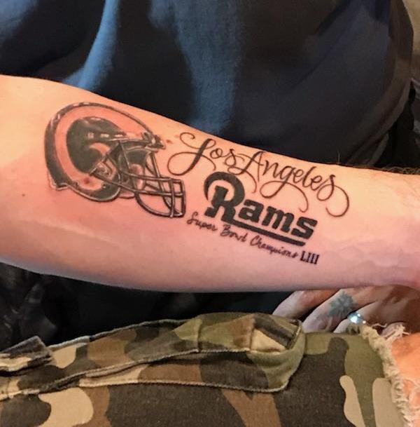 Confident Los Angeles Rams Fan Gets Super Bowl LIII Champs Tattoo Before Season (PICS)