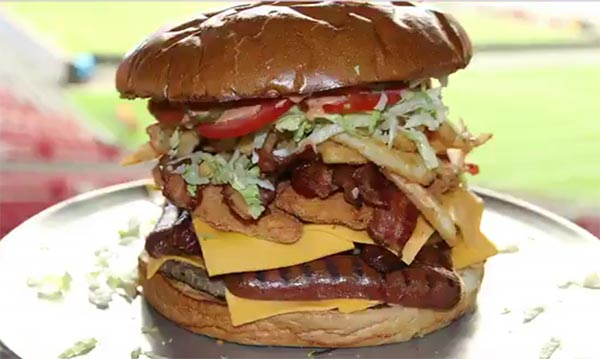 Arizona Cardinals Challenging Fans To Eat A 7-Pound Burger For $75