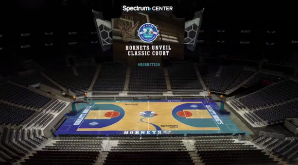 The Hornets Revealed Their 'Classic Court' For This Season And It's Awesome