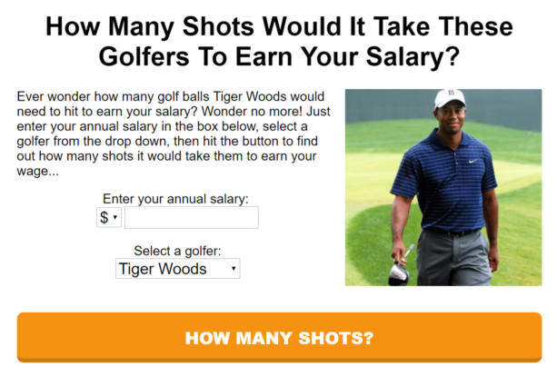 Tiger Woods Calculator Reminds You That He's Rich