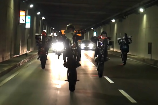 Supermoto Gang Hits The Streets In Italy