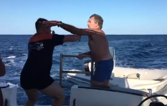 Don't Hit An Old Italian Mans Dingy
