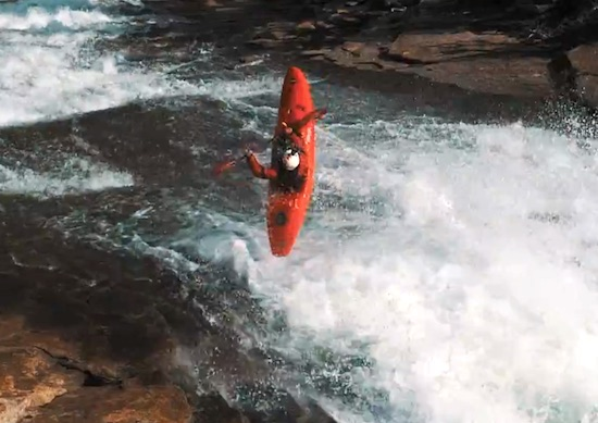Kayaking a Yosemite Natural Water Slide