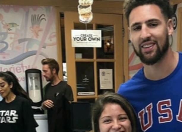 Klay Thompson Spotted WIth Girlfriend At Disneyland
