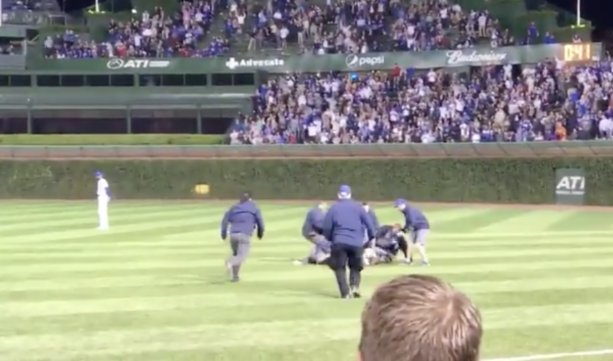 Chicago Cubs Security Takes Out Streakers