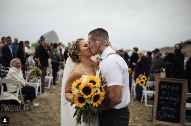 UFC Fighter Paige VanZant Gets Married
