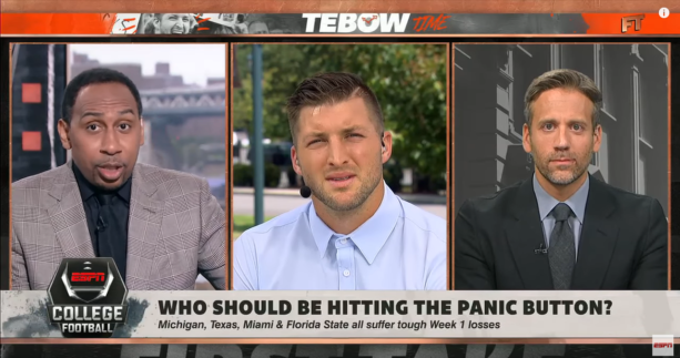 Tim Tebow Blasts Jim Harbaugh Over Michigan's 'pathetic' Performance (VIDEO)