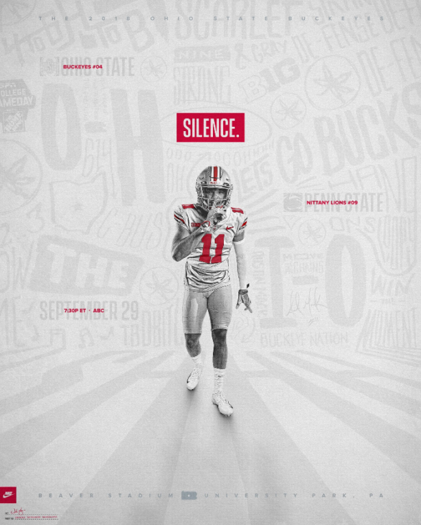 Ohio State Introduces Ironic Marketing Piece: 'SILENCE.'