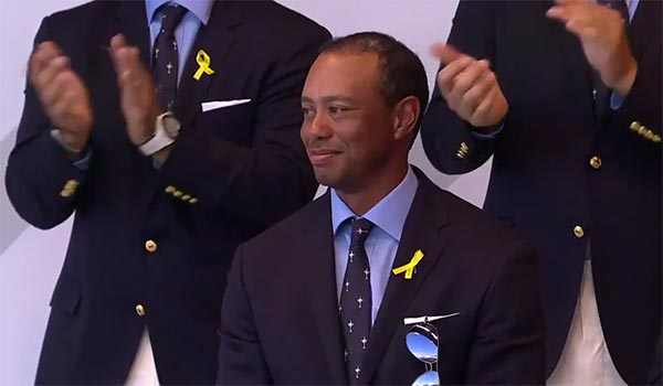 VIDEO: Tiger Woods Gets Standing Ovation At Ryder Cup Opening Ceremony