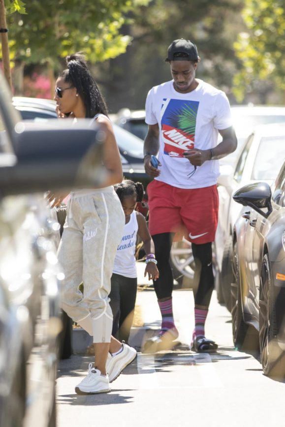 Demar Derozen Spotted Out With Fiancé And Daughter