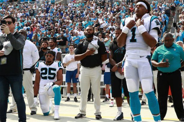 Panthers Fans Rip Eric Reid For Taking A Knee In His First Game