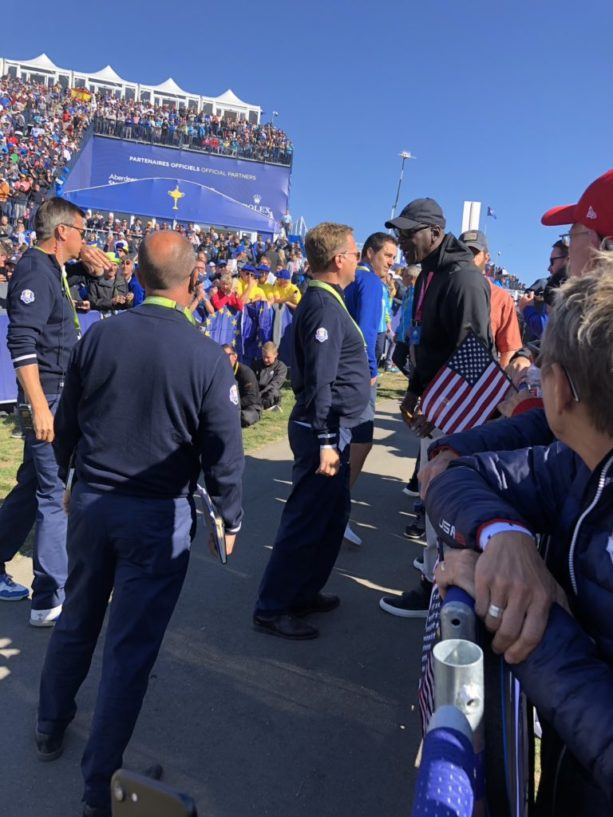 Michael Jordan Not Allowed AT The 1st Tee Of The Ryder Cup