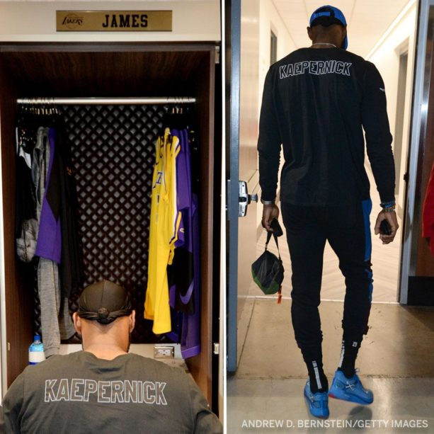 LeBron James Shows Up To Lakers Game With Love For Kaepernick
