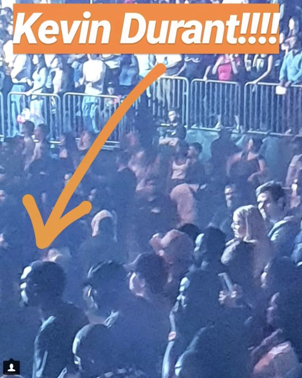 Kevin Durant Spotted At J Cole Concert At Madison Square Garden