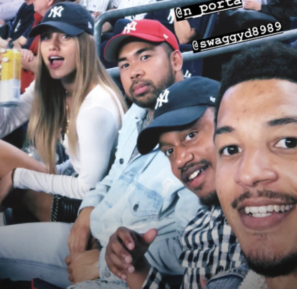 Giancarlo Stanton's Model Girlfriend Chase Carter Gram'n From The Game