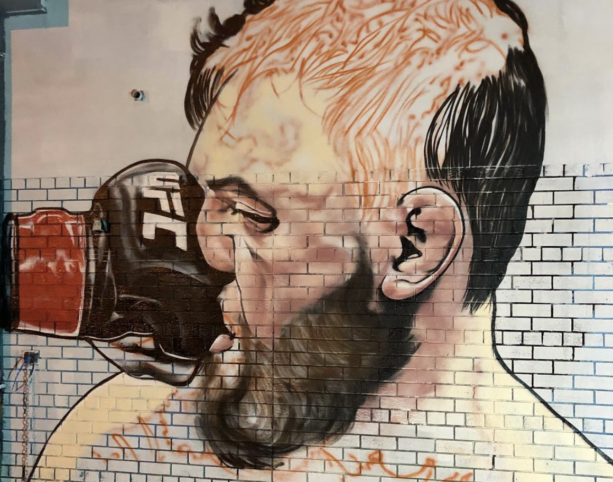 Artist Creates Mural Of Conor McGregor Getting Punched In The Face