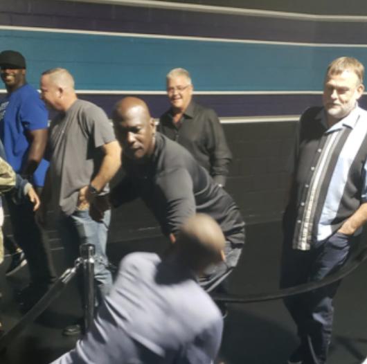 Michael Jordan Horsing Around With Muggsy Bogues