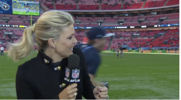 he NFL Network Reporter Melissa Stark Hit In Head By Football