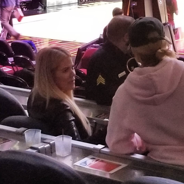 Khloe Kardashian Spotted At Cavs Game Cheering On Tristan Thompson