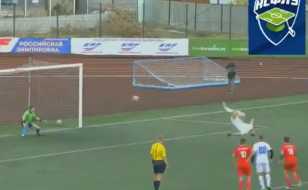 This Backflip Penalty Kick Is Ridiculous (VIDEO)