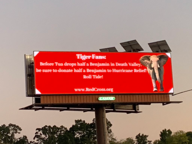 Alabama Billboard Trolls LSU Fans…For A Good Cause