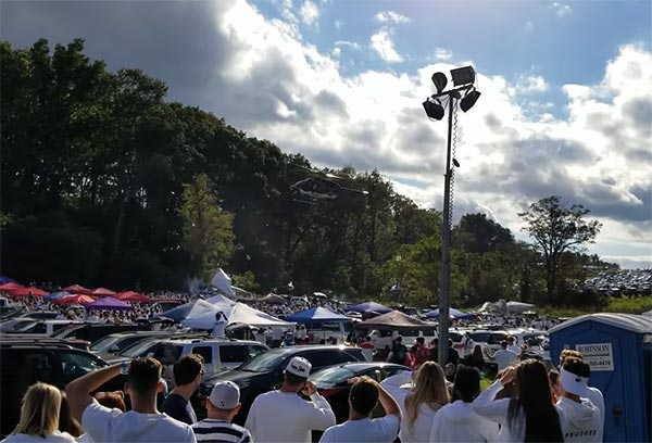 Penn State Police Deployed Helicopter To Break Up Rowdy Tailgate (VIDEO)