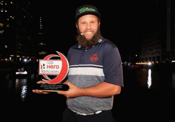 """Golfer Andrew """"Beef"""" Johnston Signs A Man's Belly (VIDEO)"""