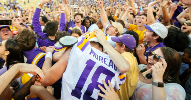 LSU Fined $100K For Fans Rushing Field After Beating Georgia