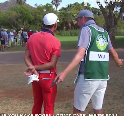 "Caddie Tells Tour Pro To ""stop being crazy"" (VIDEO)"