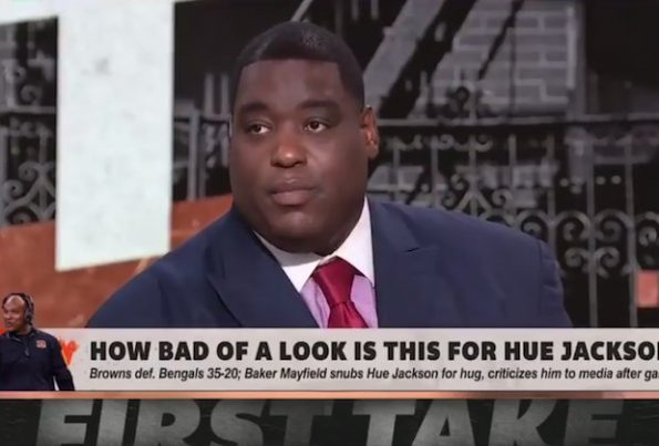 ESPN's Damien Woody's Spat With Baker Mayfield And His 'fanboys' Continues (VIDEO)