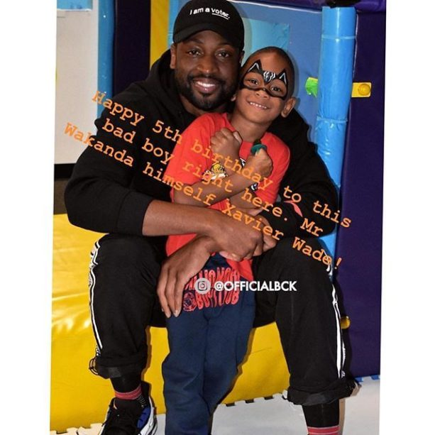 Dwyane Wade Celebrated His Son Xavier Wade's 5th Birthday This Weekend