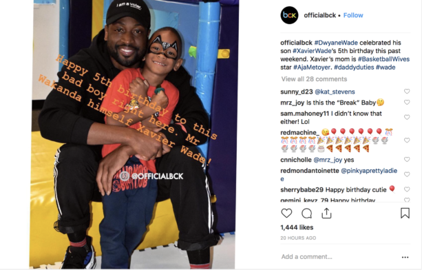 Dwyane Wade Celebrated His Son Xavier Wade's 5th Birthday This