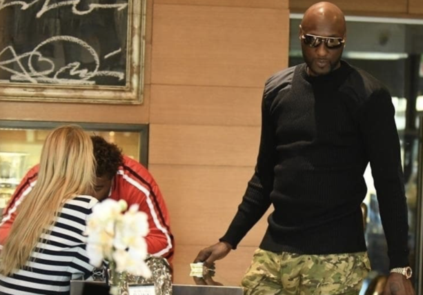 Lamar Odom Spotted At Jewelry Store After Getting Contract With Big 3