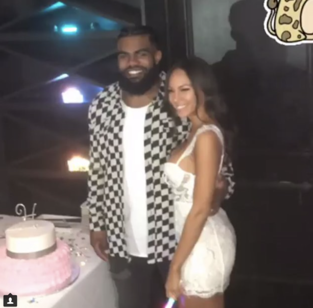 Ezekiel Elliot  Girl Getting Close WIth The Family