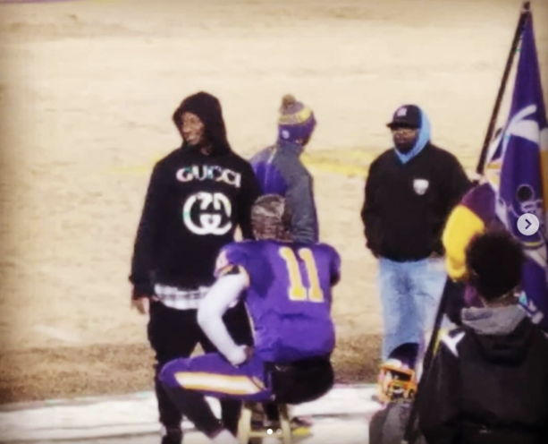 """e375fc5df Rams star running back was spotted at a High school football game this  week. """"Todd Gurley came out to show some love for the Tarboro High Vikings  tonight!"""