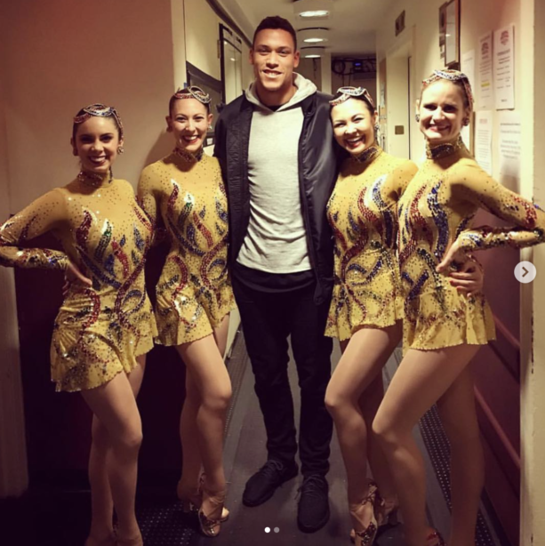 Aaron Judge Getting Some Rockettes In His Life
