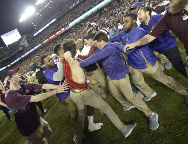 Report: Jimbo Fisher's Nephew Punched A 53-Year-Old LSU Staffer With Parkinsons