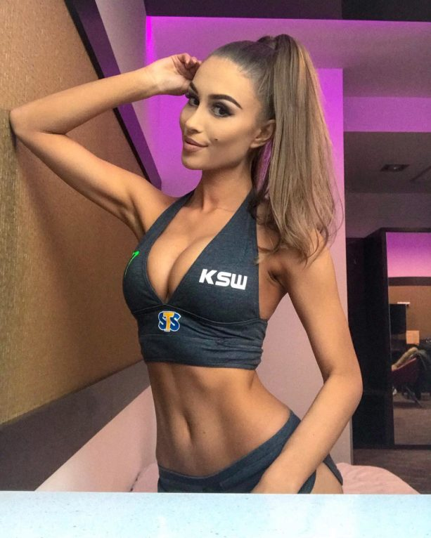 KSW Ring Girl Kasia Just Because It's Friday