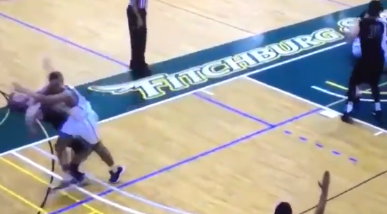 College Basketball Player Throws Brutal Elbow For No Reason (VIDEO)